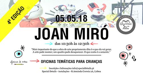 Oficina Criativa para Crianças: Joan Miró – 3ª Edição