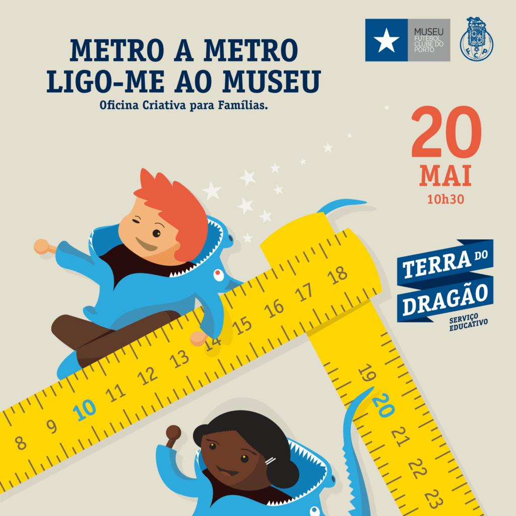 """""""Metro a Metro Ligo-me ao Museu"""" – Oficina Criativa (p/Famílias)"""