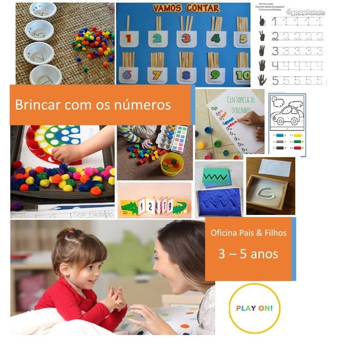 Oficina Play On!® Brincar com os números 3-5 anos