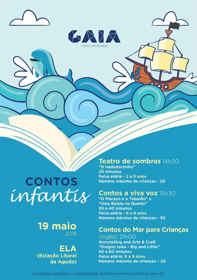 Contos do Mar para crianças na ELA
