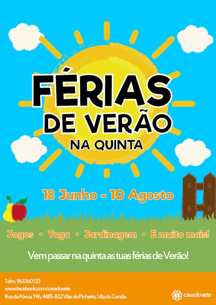 Férias de Verão na Quinta – 2018