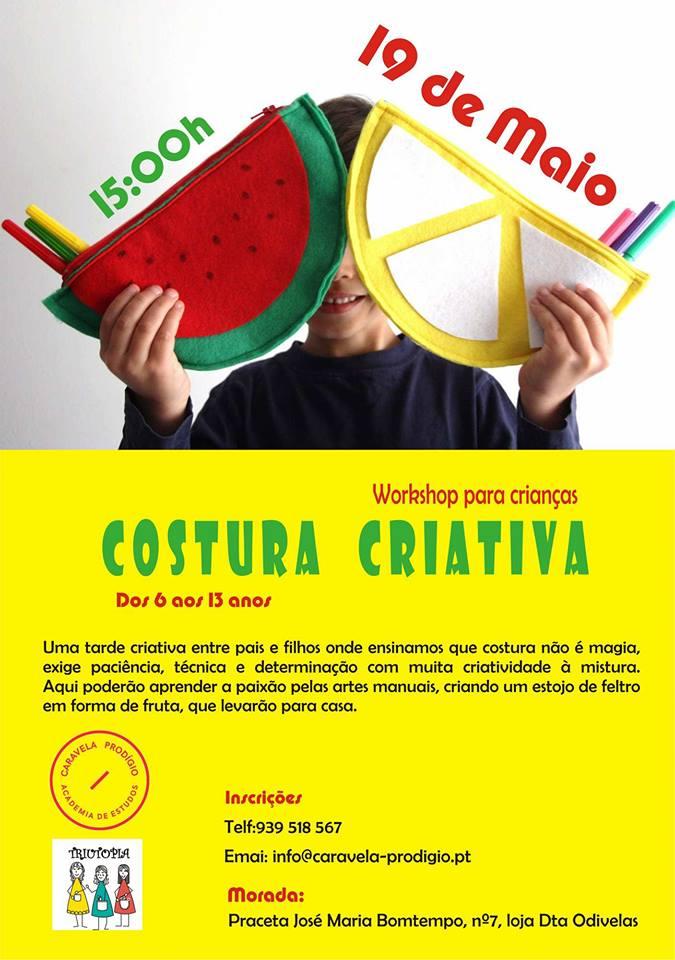 Workshop Costura Criativa para Crianças