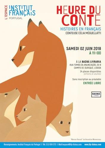 Heure du Conte en partenariat avec l'Institut Français du Portugal