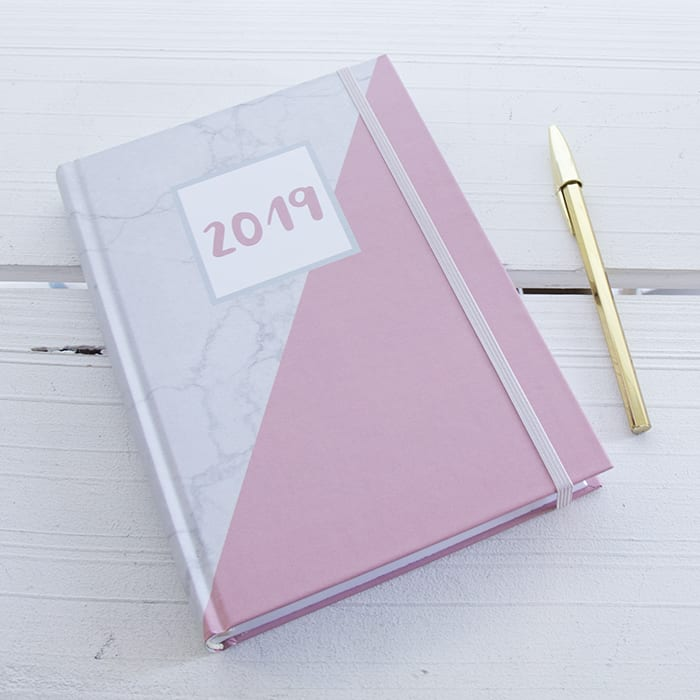 agenda rosa marble