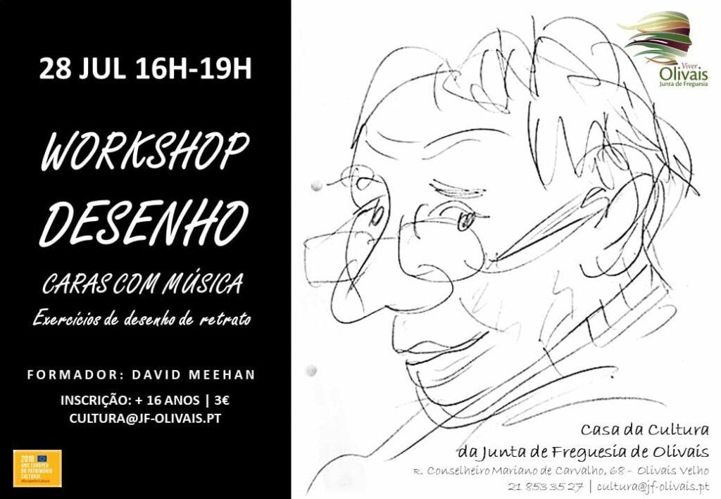 Workshop de desenho de retrato