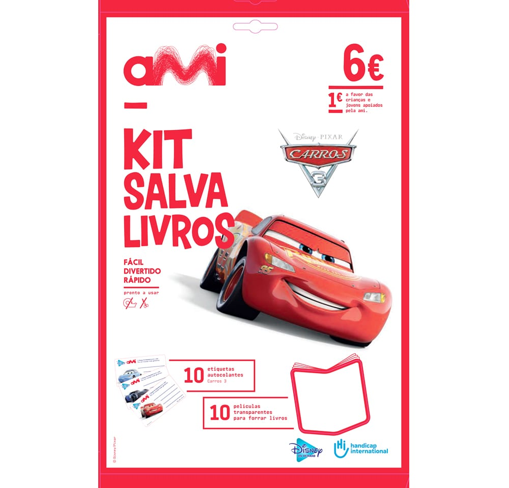 kit salva livros cars 3