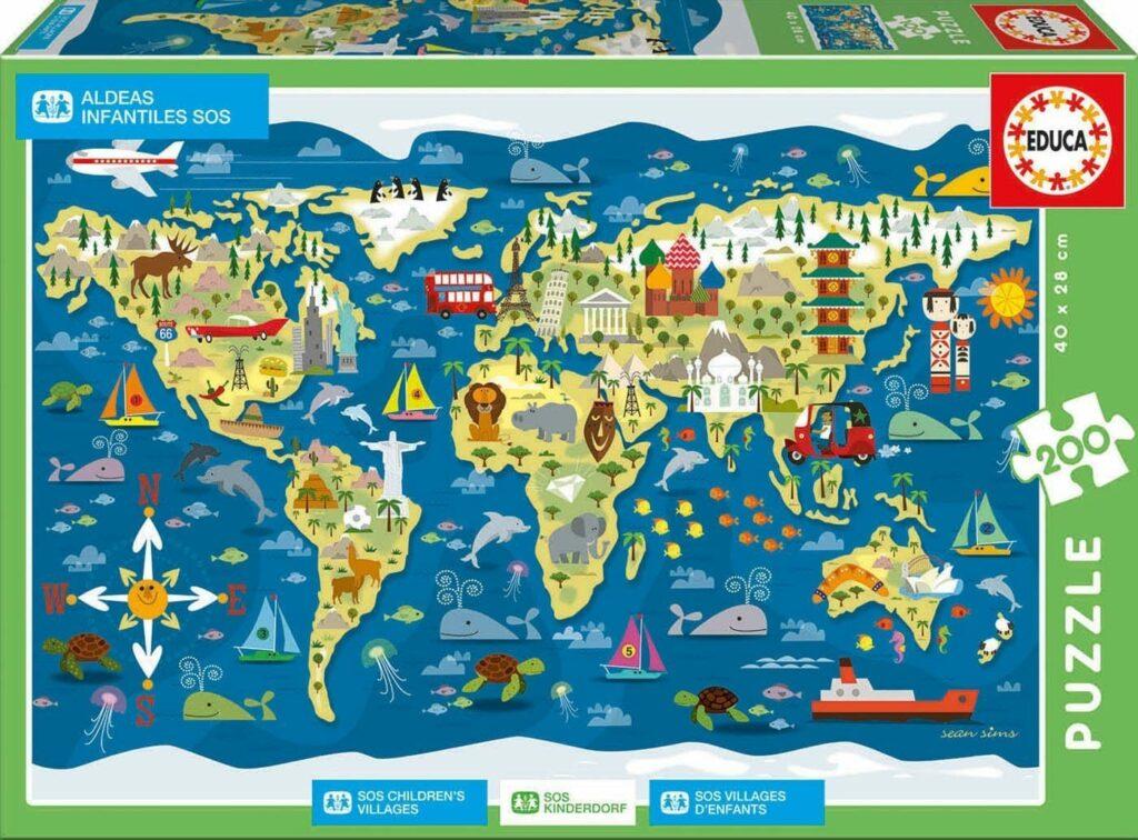 mapa mundo aldeias sos