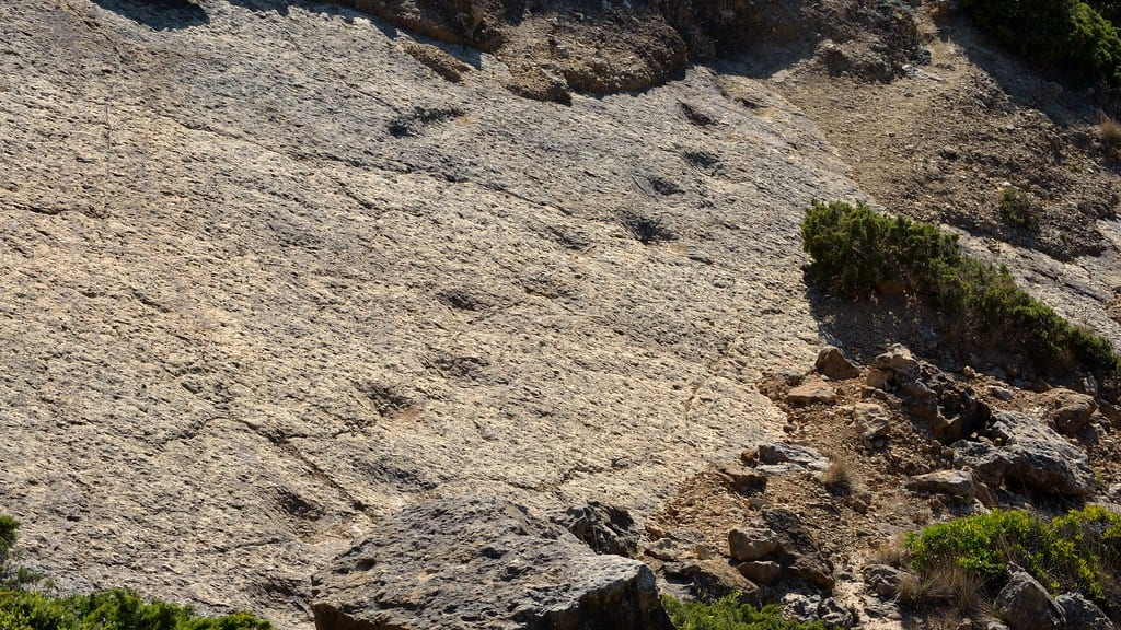 Jazida de pegadas de dinossauros dos lagosteiros, Cabo Espichel