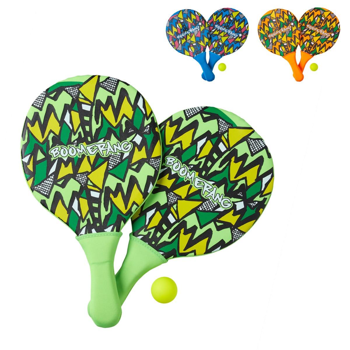 brinquedos de praia - raquetes praia boomerang