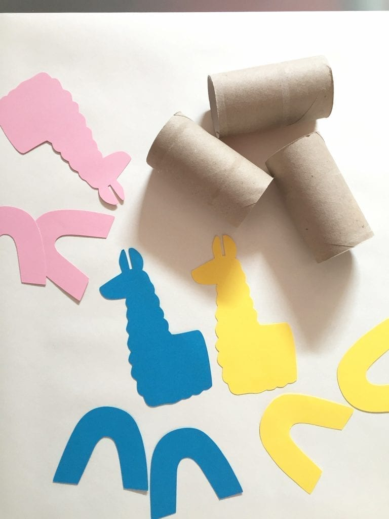 DIY papel higiénico llamas 4