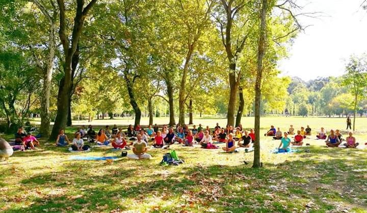 Yoga ao ar livre – Quinta das Conchas