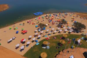 praia fluvial de monsaraz - infraestruturas