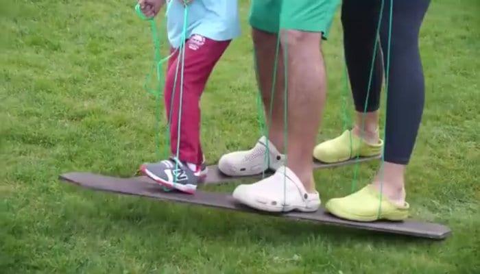 skis improvisados