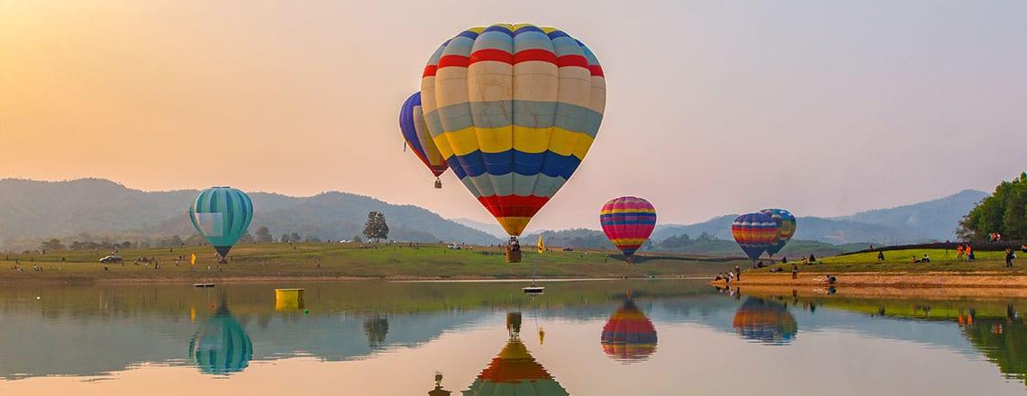 Voo em Balão de Ar Quente