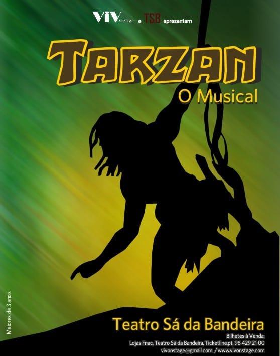 Tarzan O Musical da Vivonstage no Teatro Sá da Bandeira