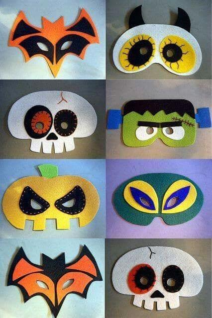 máscaras de halloween - para fazer