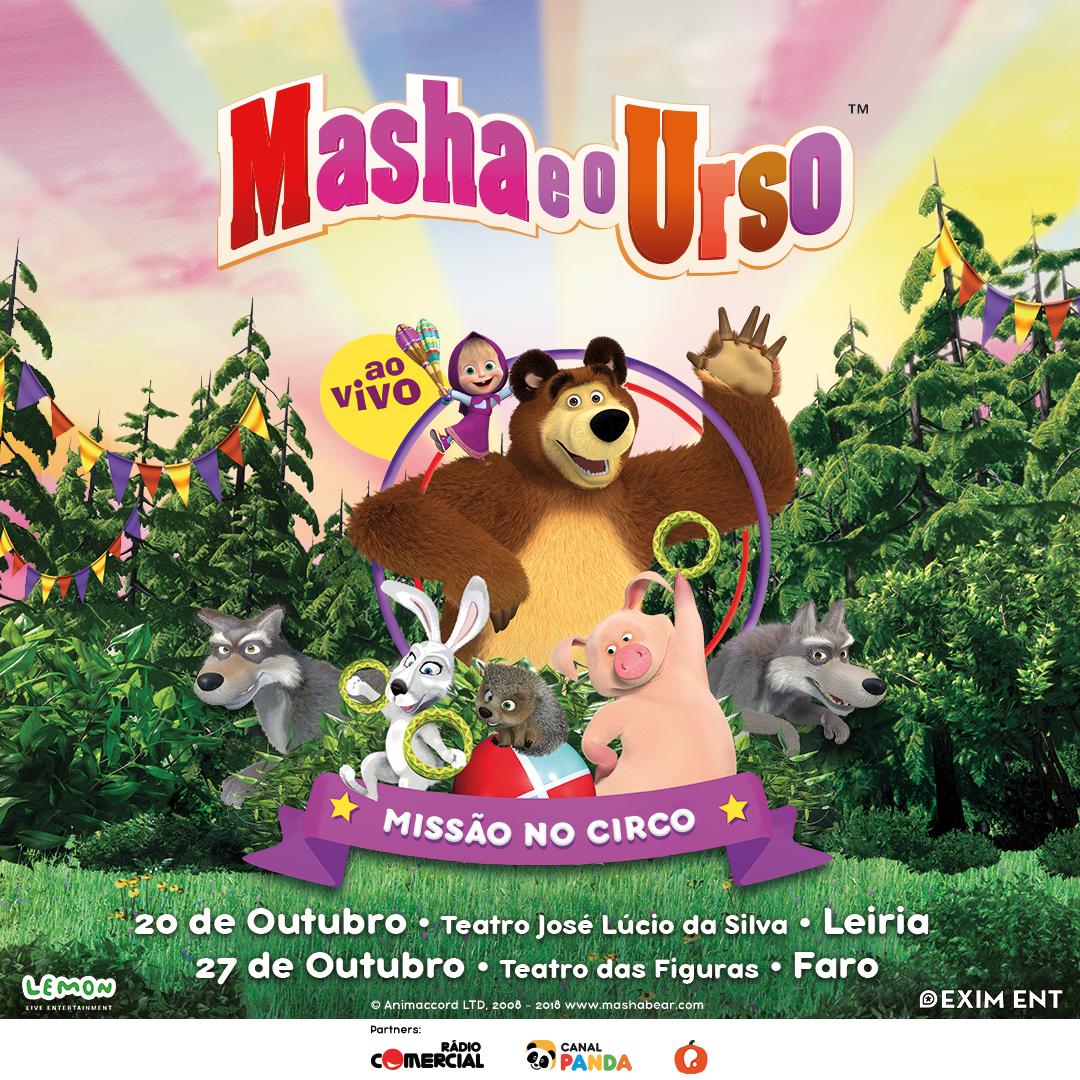 Espetáculo Masha e o Urso