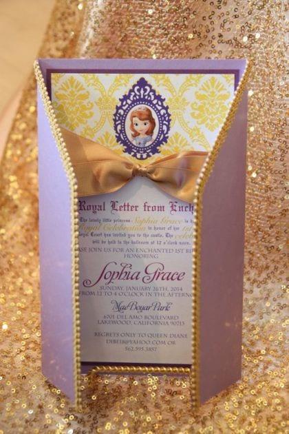 bolo princesa sofia - festa princesa sofia - convite princesa sofia 2