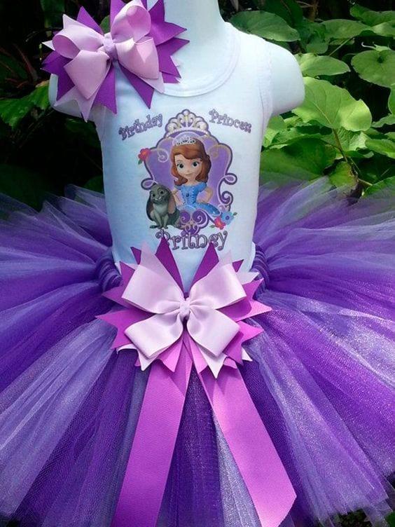 bolo princesa sofia - festa princesa sofia - vestido princesa sofia 2
