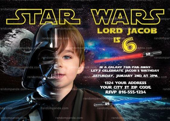 bolo star wars - convite star wars 3