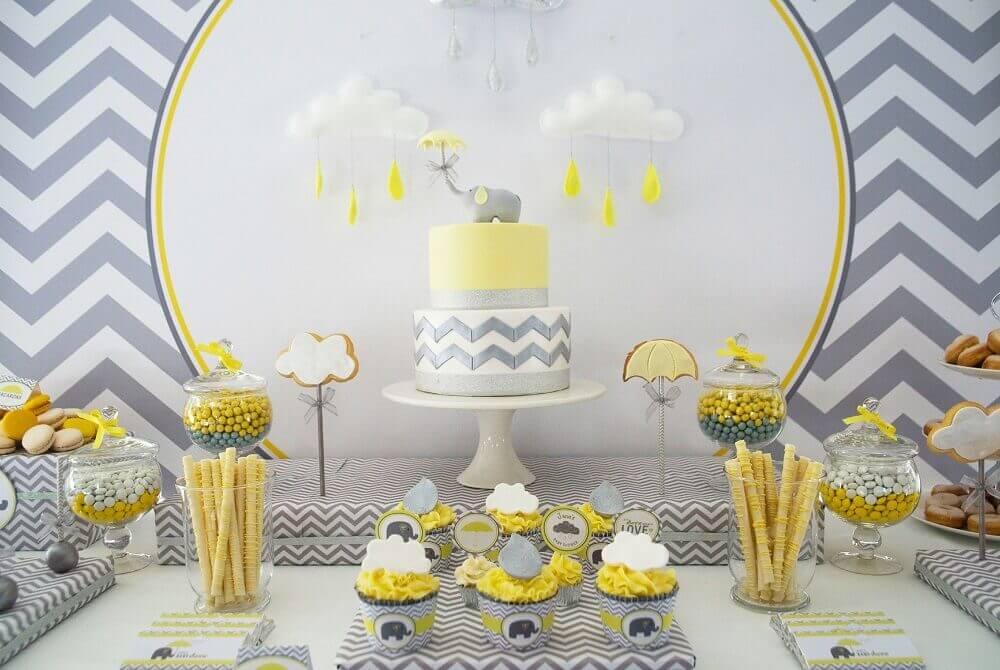 chá de bebé - decoração - bolo