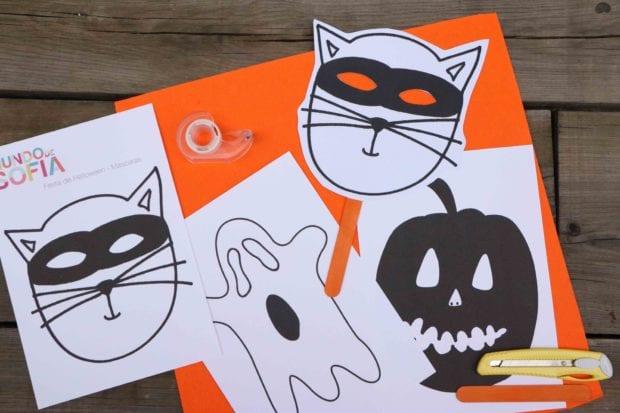decoração de halloween para imprimir
