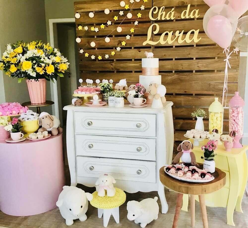 chá de bebê - menina decoração