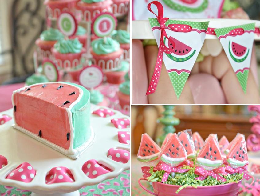 festa de aniversário de um ano melancia