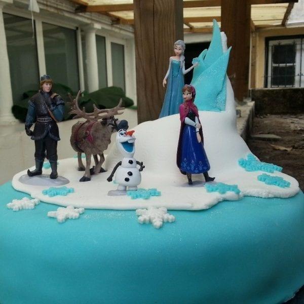 festa de aniversário frozen - bolo frozen 2