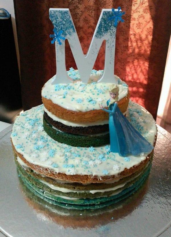 festa de aniversário frozen - bolo frozen