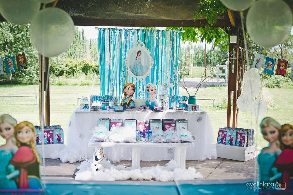 festa de aniversário frozen - decoração