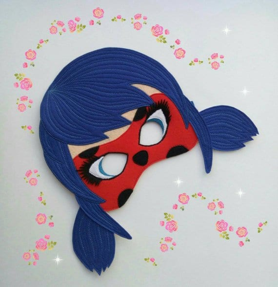 máscaras de halloween - ladybug