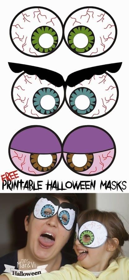 máscaras de halloween - para imprimir
