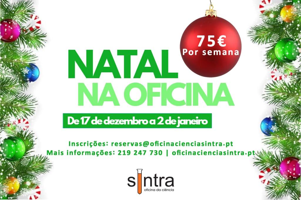 Férias de Natal Oficina da Ciência de Sintra
