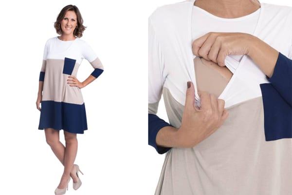 roupa de amamentação - vestido love milk