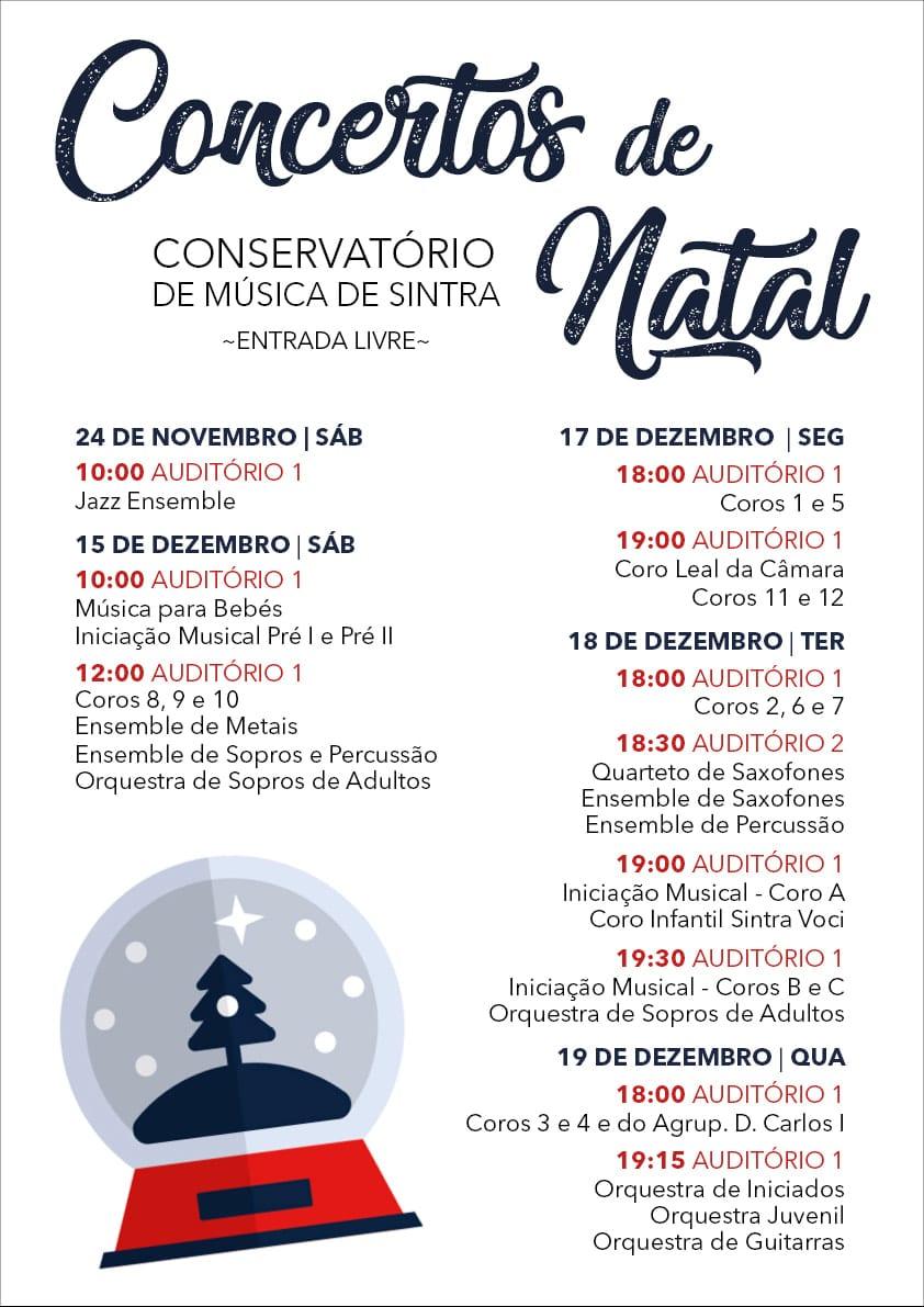 Concertos de Natal Gratuitos no Conservatório de Sintra