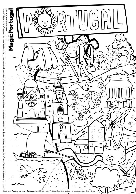 ler e colorir portugal