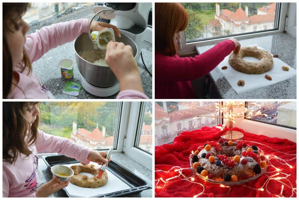 bolo rei de iogurte preparação