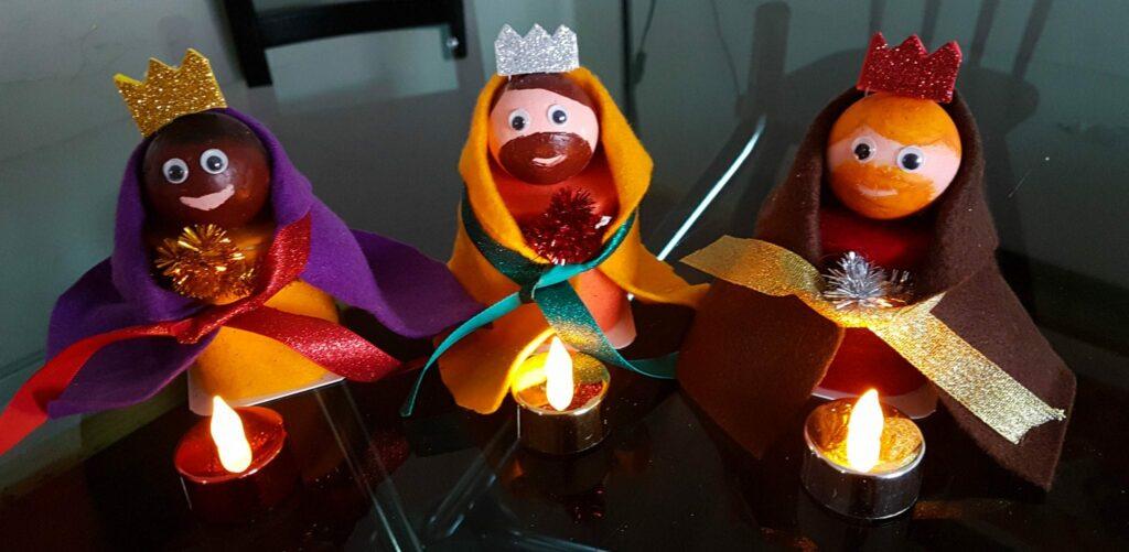 bolo rei de iogurte - decorações de natal reis magos -final
