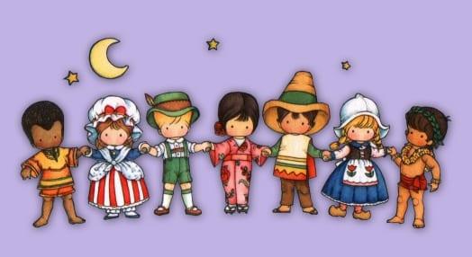 meninos de todas as cores