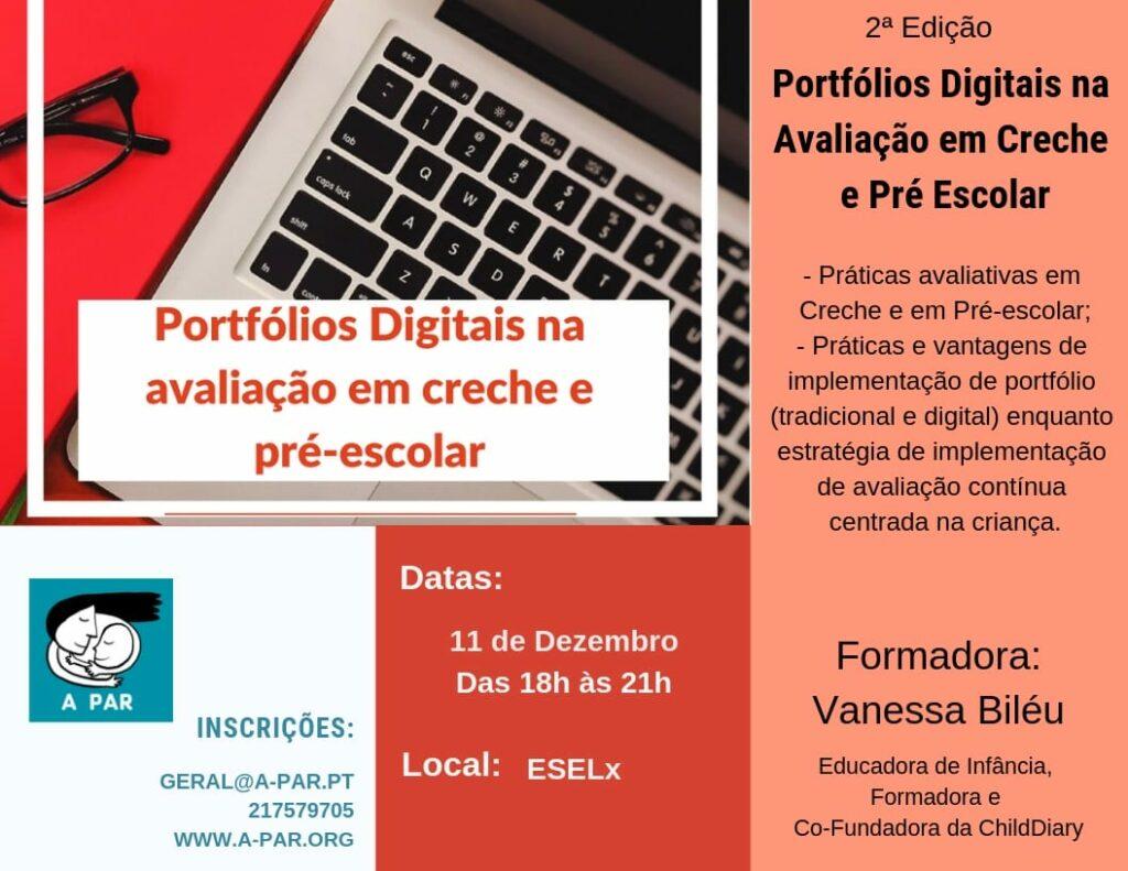 Workshop Portfólios Digitais na Avaliação em Creche e Jardim de Infância