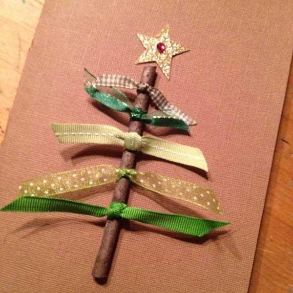postais de natal com canela