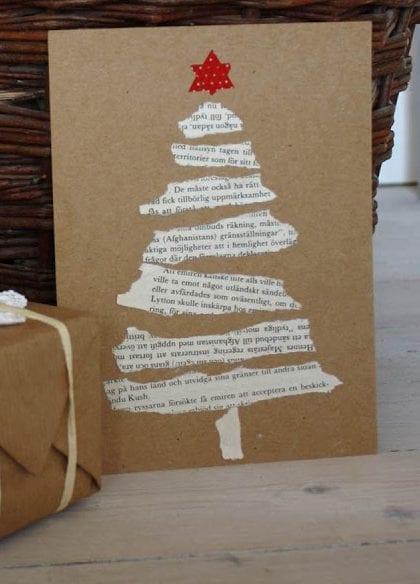 postais de natal com jornais