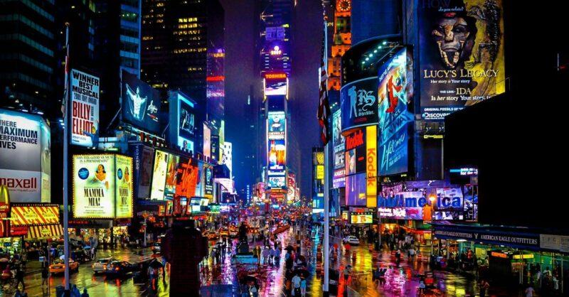Passagem de Ano Virtual em Times Square