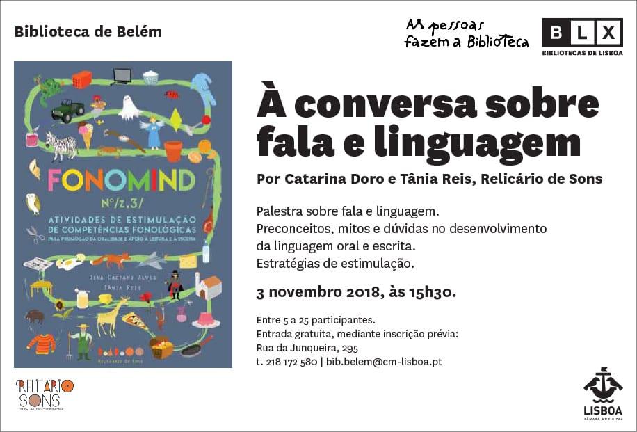 À conversa sobre fala e linguagem