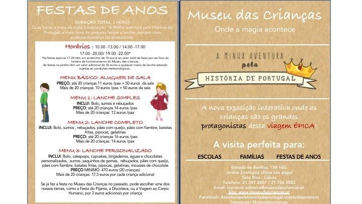 Festa de Anos no Museu das Crianças