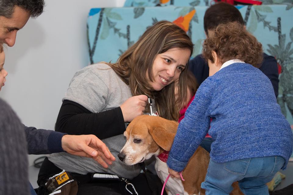 Ginástica infantil e interação com cães no Porto