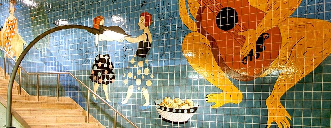 A arte à boleia do Metro de Lisboa