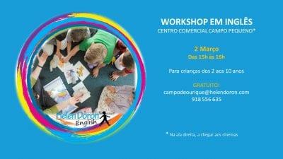 Workshop de Carnaval em Inglês – Gratuito