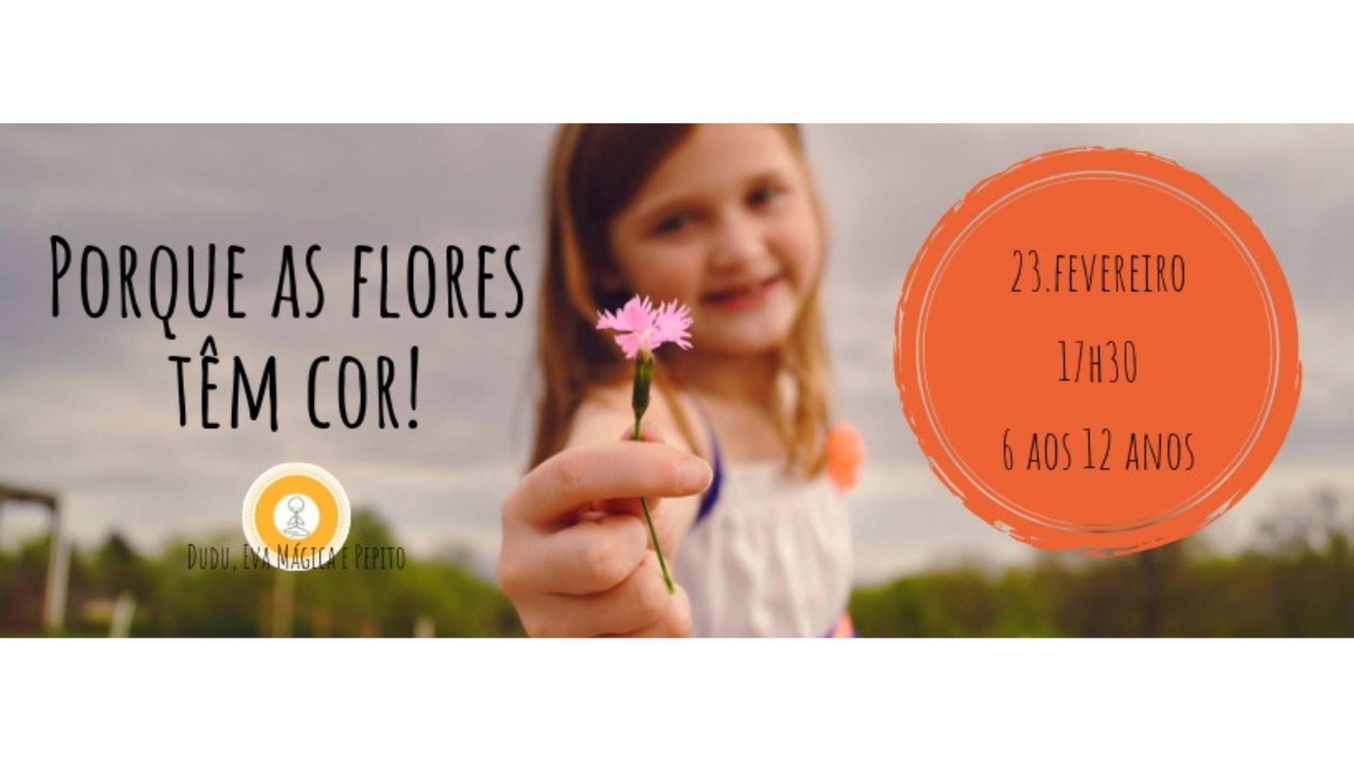 Porque as flores têm cor